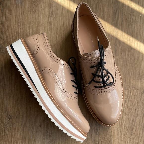 Zara Oxford platform shoes